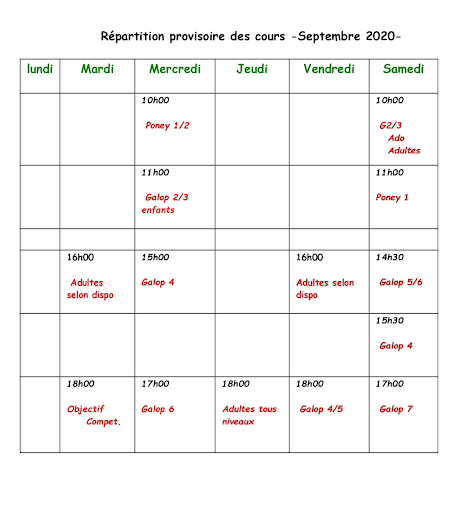 cours sept 2020