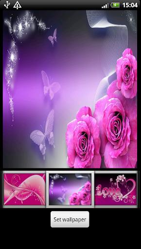粉紅色的動態壁紙