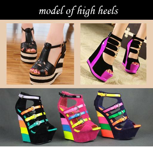 model of high heels