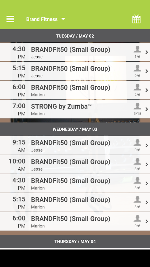 Brand Fitness BC- screenshot