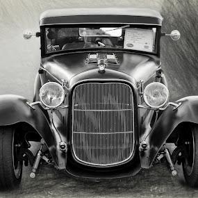 hot rod by Kirk Kimble - Transportation Automobiles ( car, automobile, model t, hot rod, black )