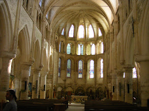 Photo: The church is normally closed on weekdays, but by good fortune, I happen to be here during a time when there is a large art exhibit inside. The condition of the church indicates a recent thorough cleaning of the stone walls.