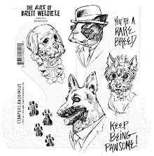 Stampers Anonymous Brett Weldele Cling Stamps 7X8.5 - Woofpack