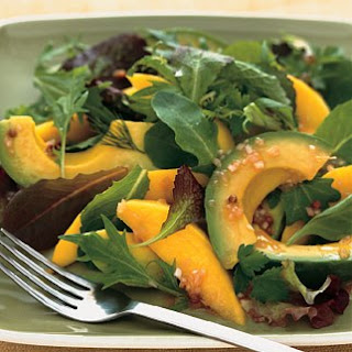 Avocado and Mango Salad with Passion Fruit Vinaigrette recipe | Epicurious.com.