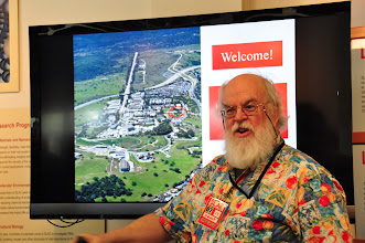 Photo: SLAC computational physicist, Bebo White, is giving us the tour
