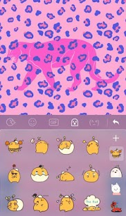 Cute Pink Purple Panther Keyboard Theme - náhled