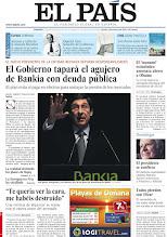 Photo: El Gobierno tapará el agujero de Bankia con deuda pública, una víctima de Hipercor se reúne con el etarra autor del atentado y el 'tsunami' económico amenaza ahora a Obama, en la portada del domingo 27 de mayo de 2011 http://srv00.epimg.net/pdf/elpais/1aPagina/2012/05/ep-20120527.pdf