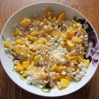 Cottage Cheese Recipe With Mango And Walnuts.