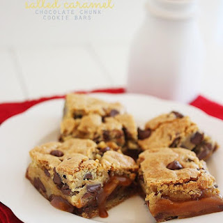Salted Caramel Chocolate Chunk Cookie Bars.