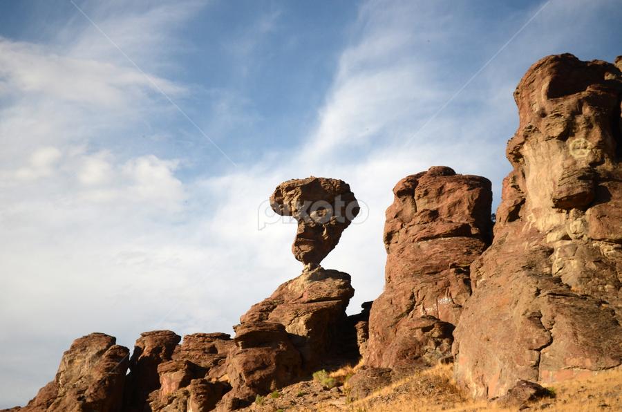 Balance Rock @ idaho by Cassandra Gwan - Nature Up Close Rock & Stone ( idaho, rock, landmark, travel,  )