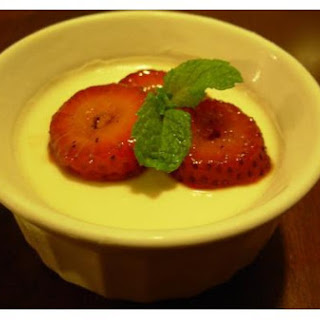 Raspberry Custard Dessert.