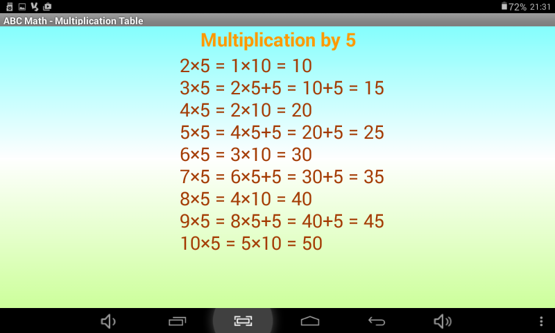 ABC Math Multiplication Table - Android Apps on Google Play
