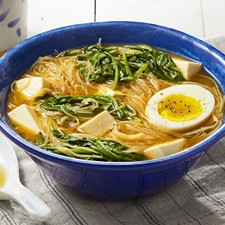 Miso Spinach Noodles.