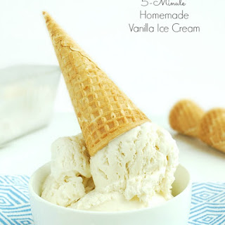 5-Minute Homemade Vanilla Ice Cream.
