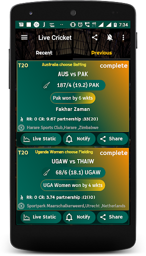 Live Cricket Score 2018 - schedule & Cricket NEWS 5.1 screenshots 3