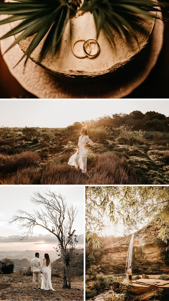 Gold Bands Collage - Wedding Template
