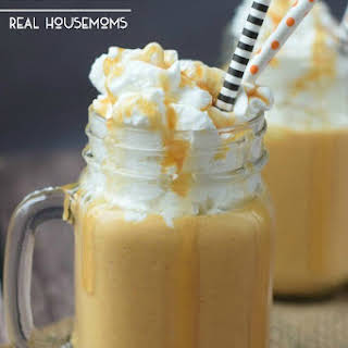 Boozy Pumpkin Caramel Milkshake.