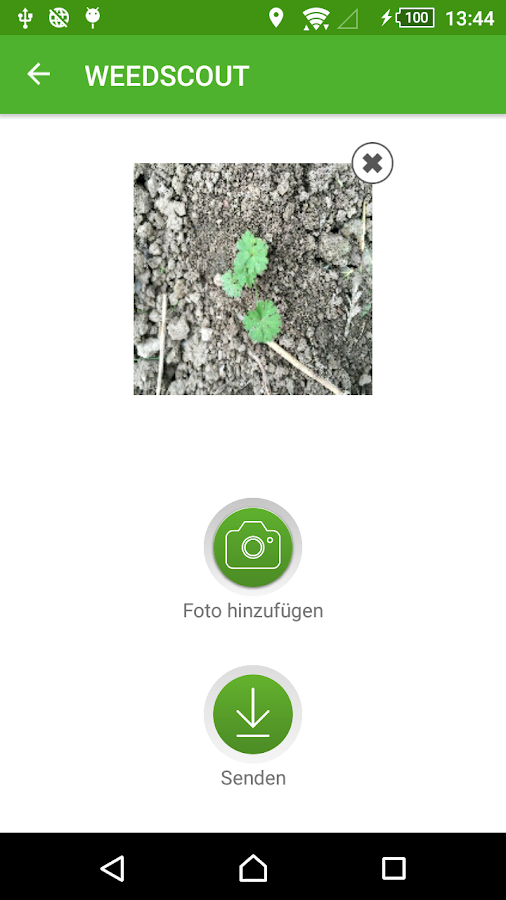 WEEDSCOUT – Screenshot