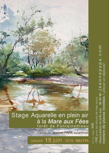 stage aquarelle  mare aux fées  Jeanne PAPA 15  juin 2019