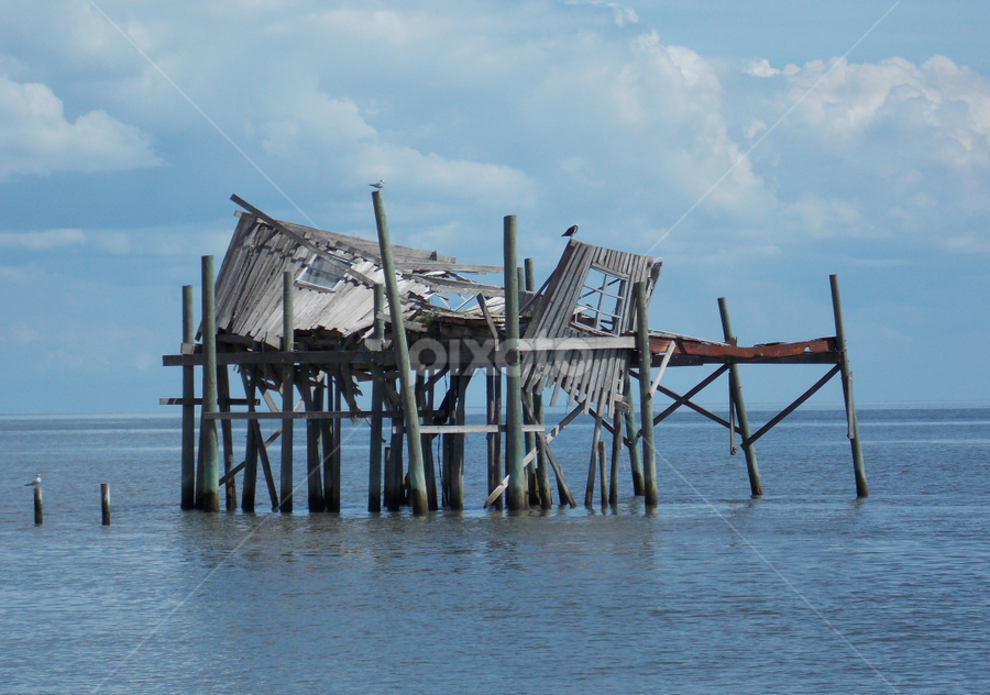 Cedar Key by Jamie Boyce - News & Events Weather & Storms ( water, pwcstorms, storm damage, weather, beach, dock )