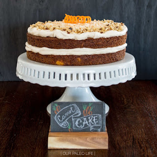 Carrot Cake w/ Maple Meringue Frosting {grain-free, dairy-free}