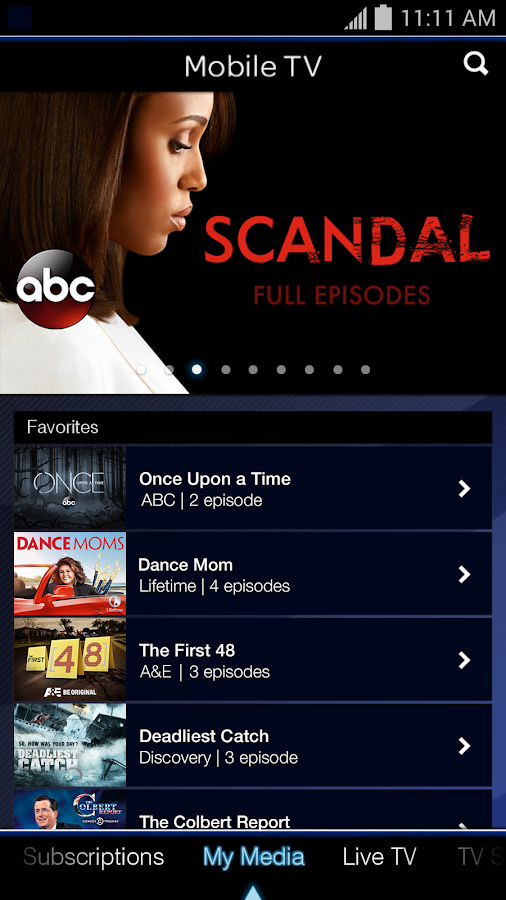Mobile TV- screenshot