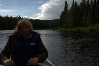 Photo: Juha rowing us downstream