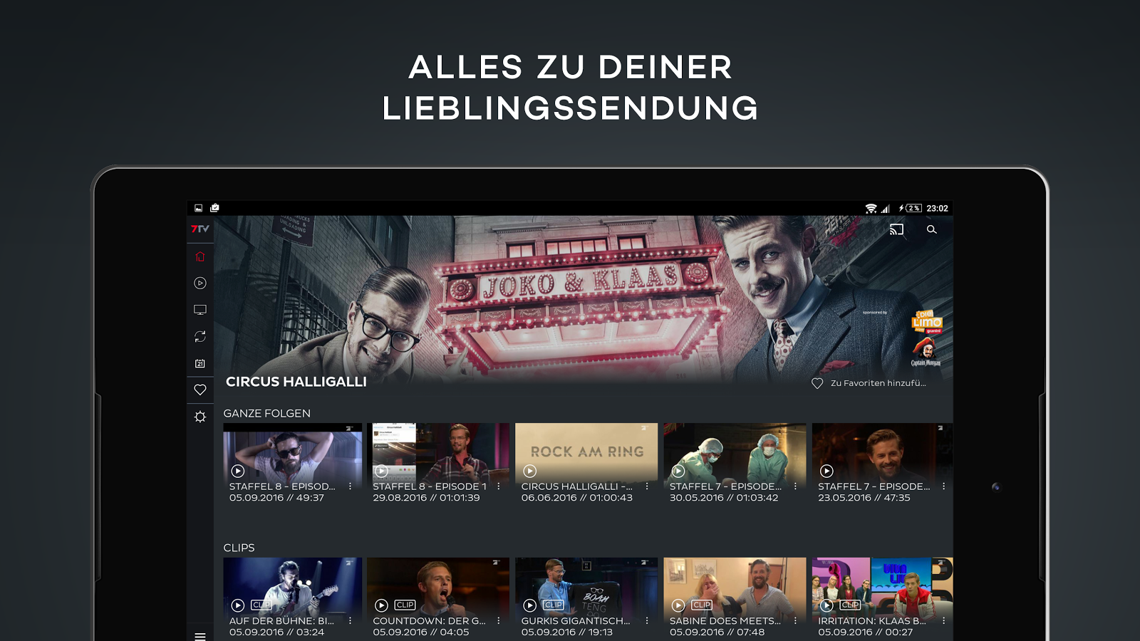 7tv mediathek tv livestream android apps auf google play for Mediathek spiegel tv