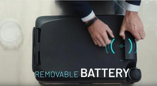 The Ovis smart suitcase.