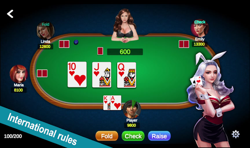 Poker Offline Free 2020 - Texas Holdem With Girl  screenshots 1