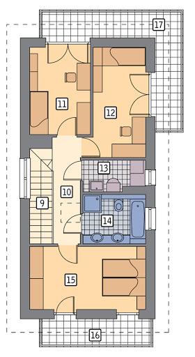 Światła miasta - wariant I - M225a - Rzut piętra