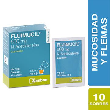 Fluimucil Sin Azúcar   600Mg Sobres Caja x10Sob. Zambon N-Acetilcisteína
