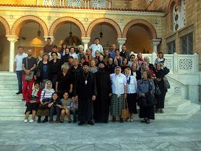 Photo: Поклоническата група от България пред храма, където почиват мощите на св. Нектарий Егински