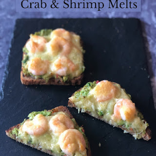 Crab and Shrimp Melts.