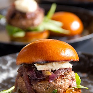 Beef & Brie Sliders with Caramelized Onions & Fig Jam