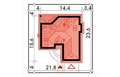 Lawenda II energo+ wersja A - Sytuacja