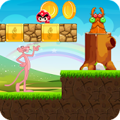 super pink panther into lava world adventure