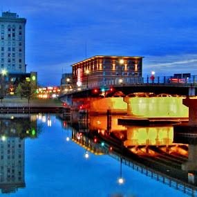 Peace Be Still by Howard Sharper - City,  Street & Park  Skylines ( skyline, riverside, blue hour, reflections, cityscape,  )