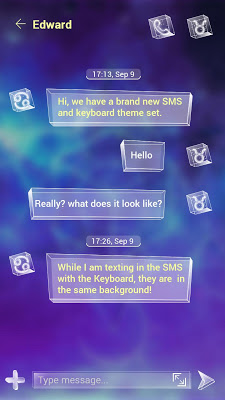(FREE) GO SMS GALAXY THEME - screenshot