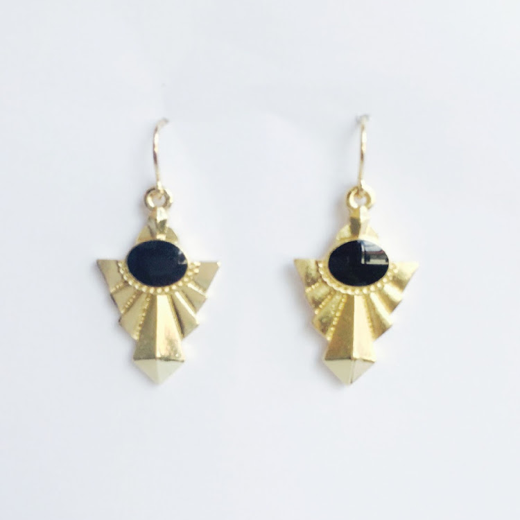 E033 - G. Lady Baroque Pivot Earrings by House of LaBelleD.