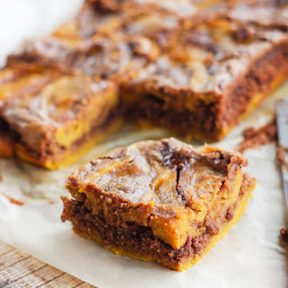 Marbled Pumpkin Chocolate Brownies