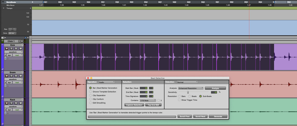Beat Detective by Pro Tools