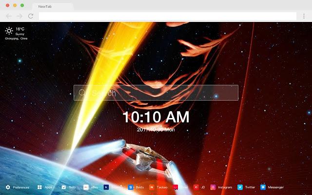 Star Trek New Tab Page Pop Movie HD Theme