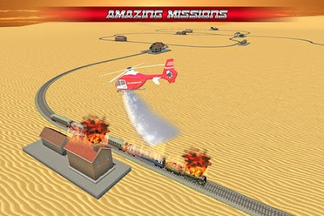 Fire Fighter Helicopter Rescue screenshot