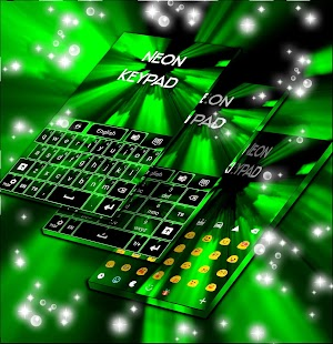 Neon Keypad Green - náhled