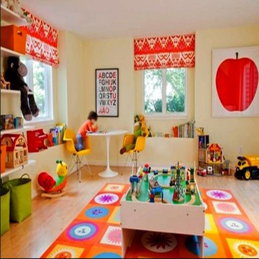 子供たちは部屋のデザインを再生します