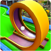 Minigolf 3D bosque animado