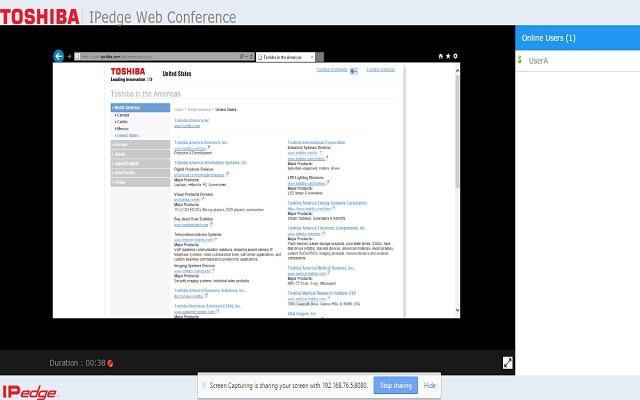 Toshiba Web Conference