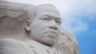 image of Dr. Martin Luther King stone monument