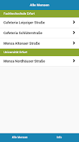 Screenshot of Mensa Erfurt